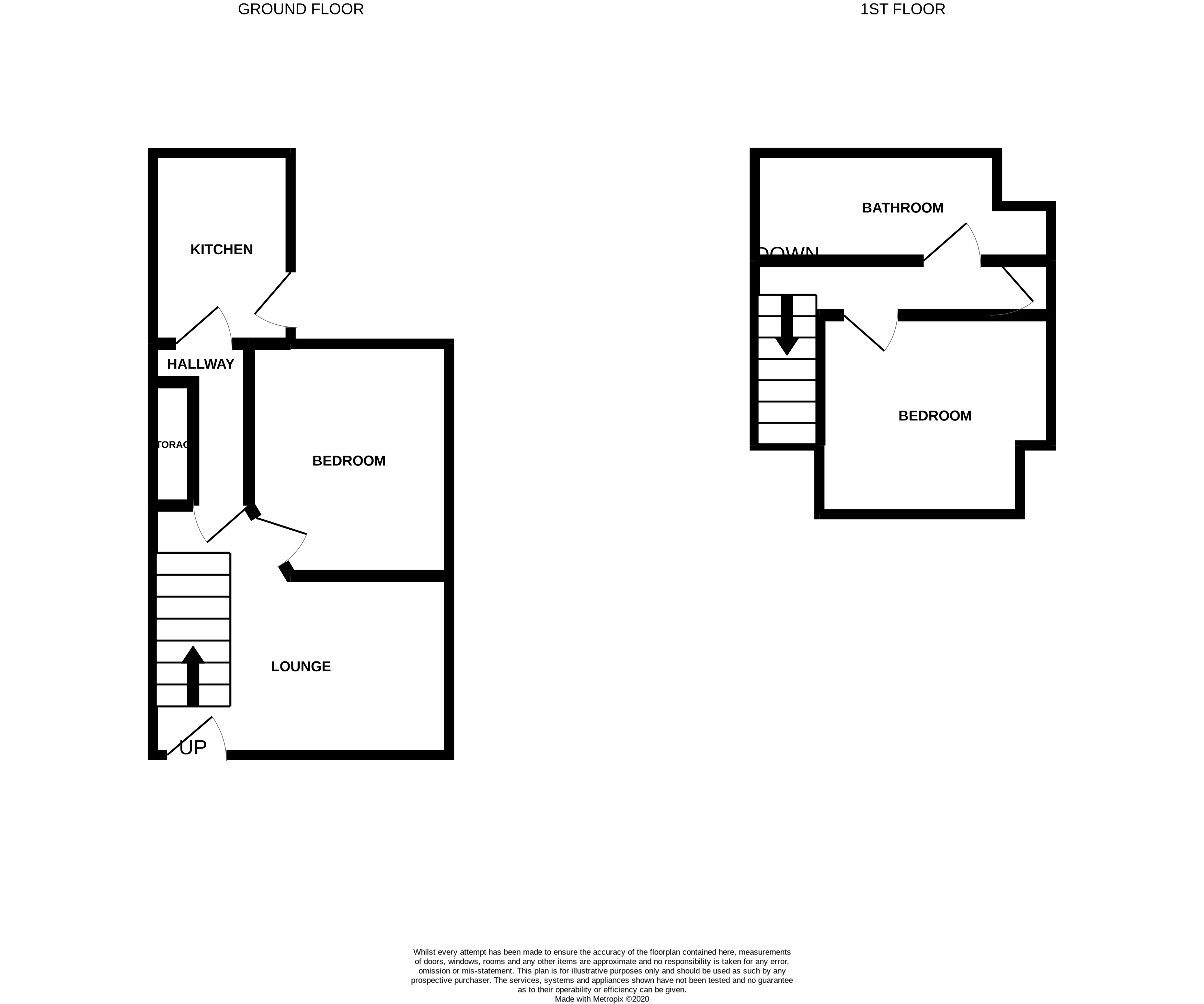 Floorplans For Randolph Street, Cowdenbeath, Fife